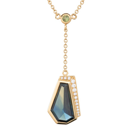 Offset Triangle Pendant Necklace