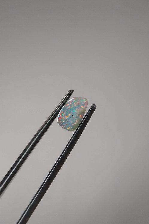 Multicoloured Offset Drop Boulder Opal