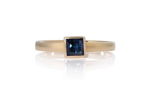 Blue Princess Solitare Sapphire Ring