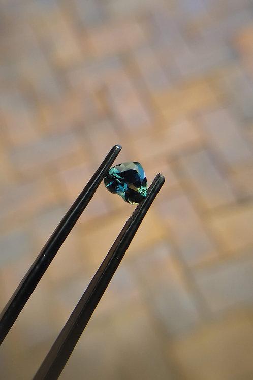 Teal Heart Sapphire