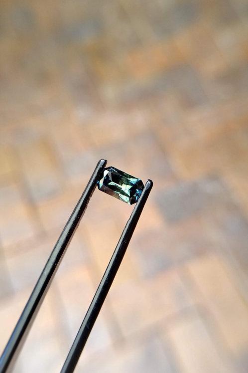 Blue Green Green Radiant Sapphire