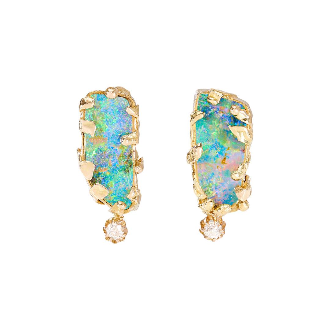 Samira Jafari Opal Earrpieces