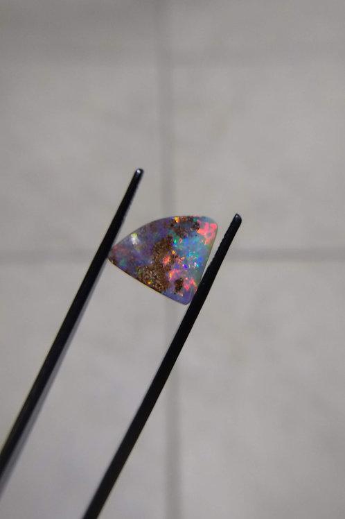 Multicolour Freeform Seam Cut Boulder Opal