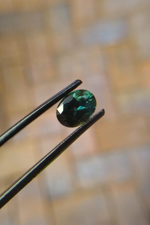 Blue/Green Oval Sapphire