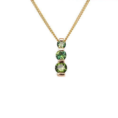 Green Yellow Brilliant Sapphires Pendant