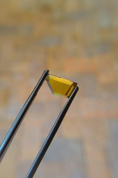 Gold (Blue Spot) Faceted Flat Sapphire