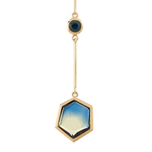 Hexagonal Sapphire Necklace