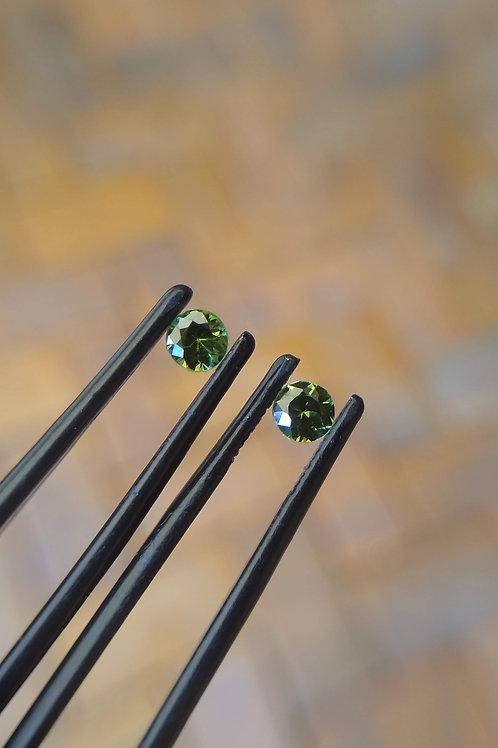 Green Brilliant Sapphire Pair