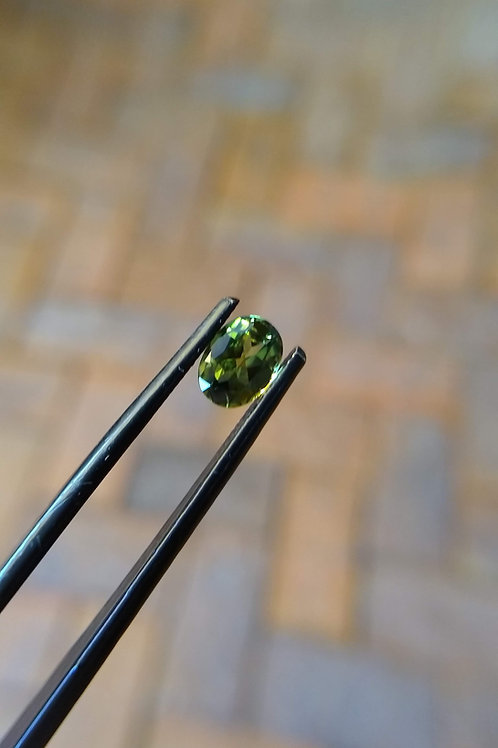 Yellow/Green Oval Sapphire