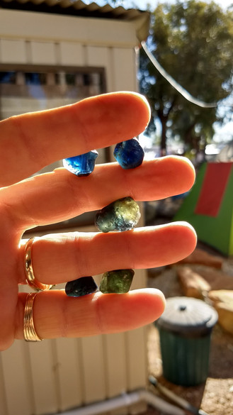 Threee beaut rough sapphires