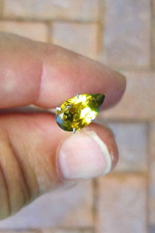 Yellow Green Drop Sapphire