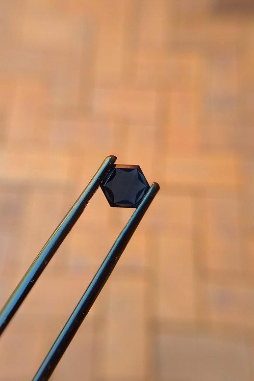 Blue Flat Hexagonal Sapphire