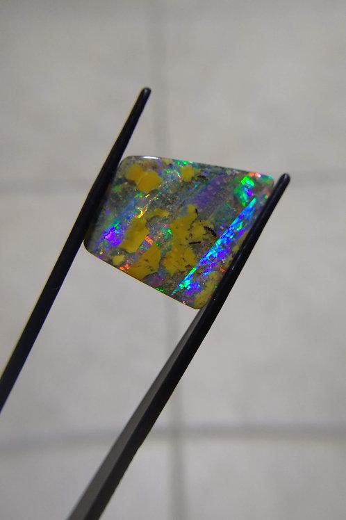 Multicoloured Offset Square Boulder Opal
