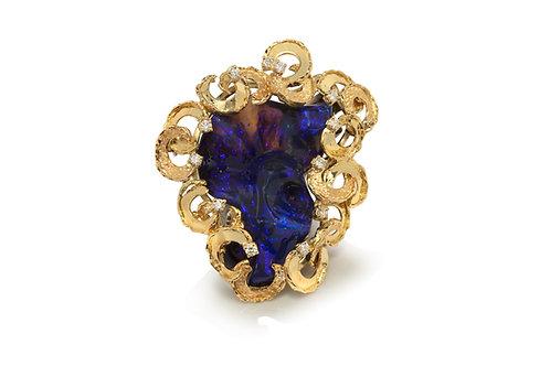 Black Opal Brooch/Necklace