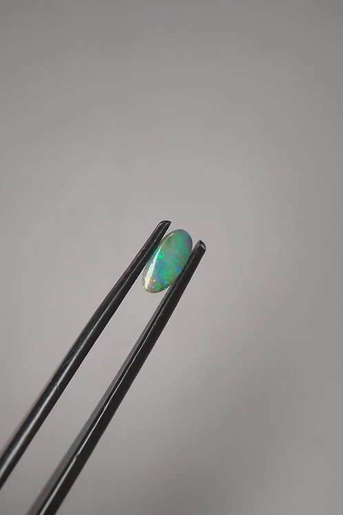 Green Oval Boulder Opal