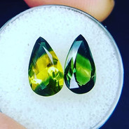 These awesome multicolored sapphires are