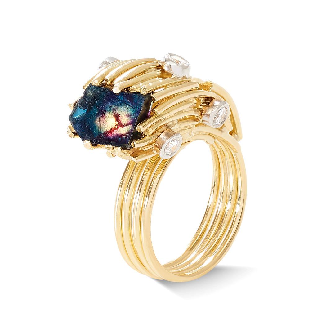 Samira Jafari Flat Sapphire Ring