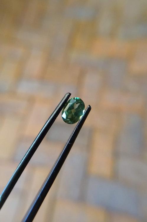 Green Oval Sapphire
