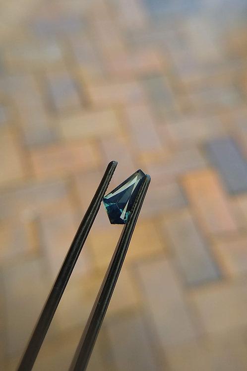 Teal Freeform Sapphire