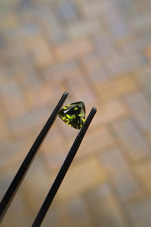 Yellow Green Trilliant Sapphire
