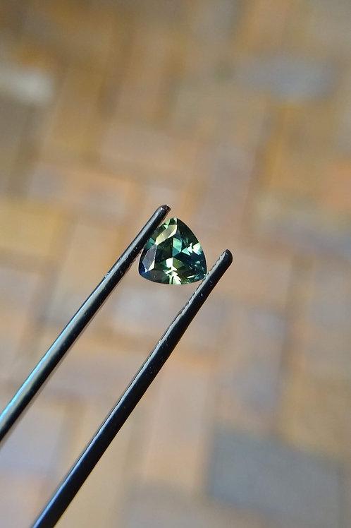 Blue/Green Trilliant Sapphire