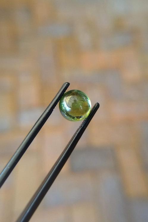 Light Green Round Cabochon Sapphire