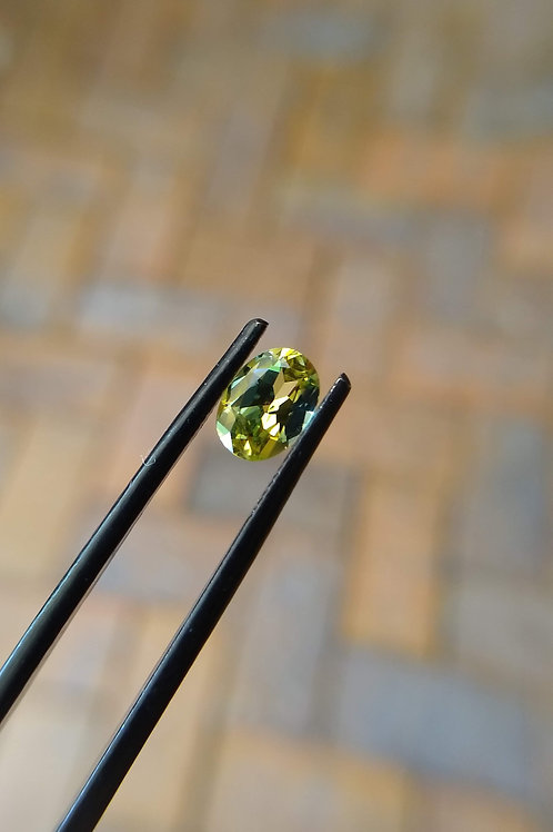 Green/Yellow Oval Sapphire