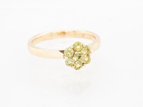 Yellow Sapphire Multistone Ring