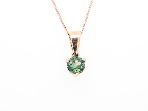 Blue Green Sapphire Pendant