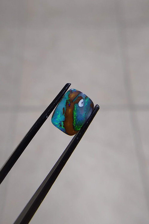 Blue/Green Rectangle Ironstone Boulder Opal