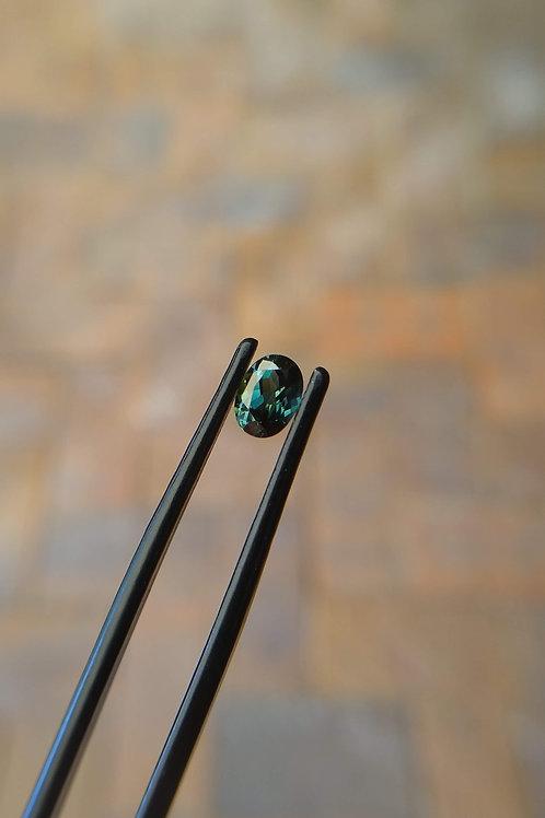 Blue Green Oval Sapphire