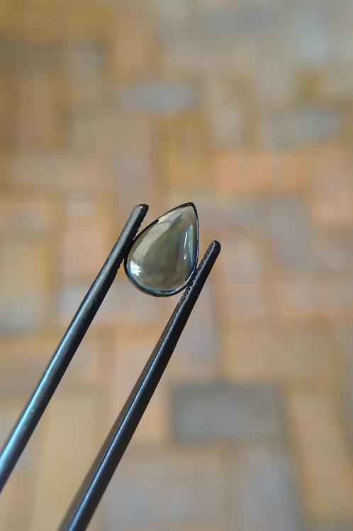 Blue/Yellow Drop Cabochon Sapphire