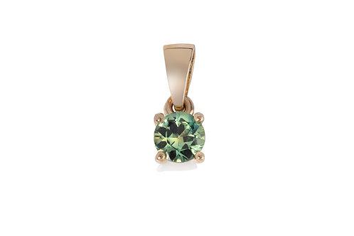 Green Yellow Brilliant Sapphire Pendant