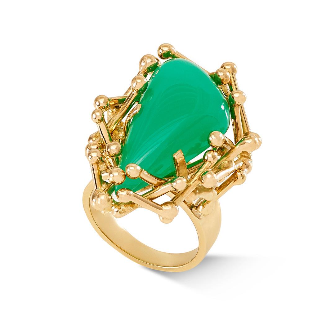 Samira Jafari Chrysoprase Ring