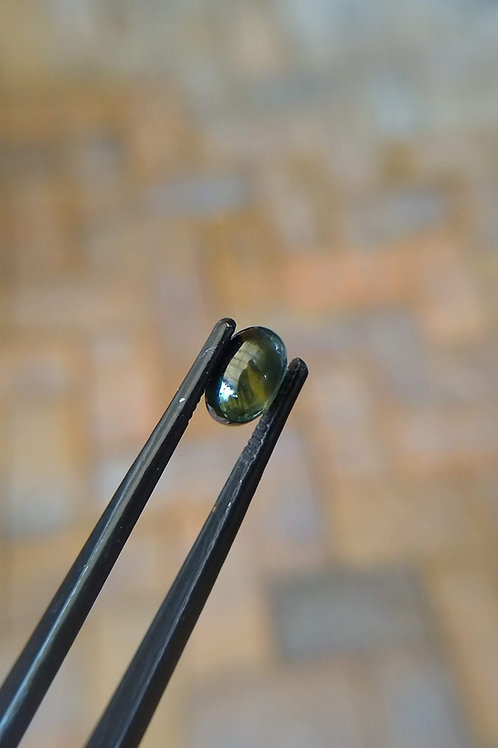 Blue/Green Oval Cabochon Sapphire