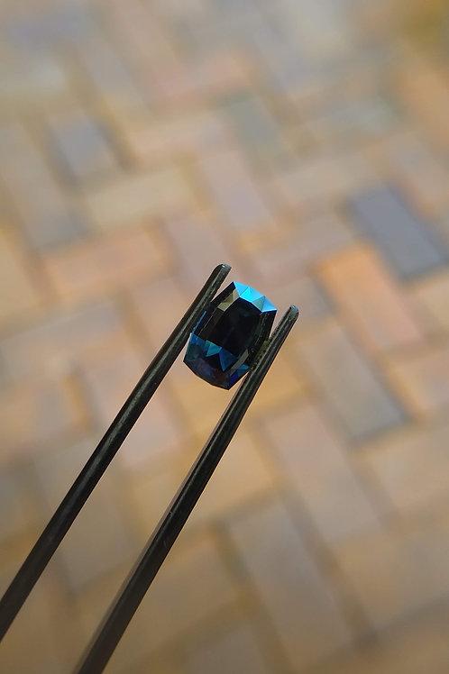 Blue Freeform Cushion Sapphire