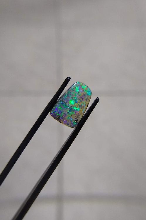 Green Freeform Boulder Opal