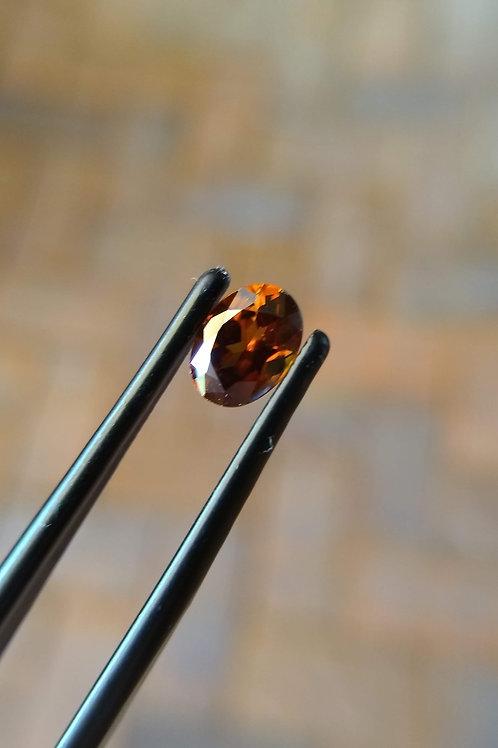 Orange Oval Zircon