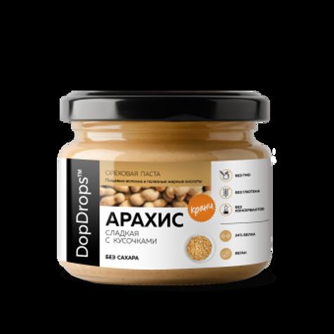 Паста арахисовая с экстрактом монк-фрукта. 250 гр.