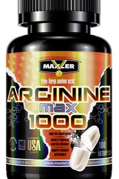 Аргинин  Max 1000 от Maxler, 100 капсул