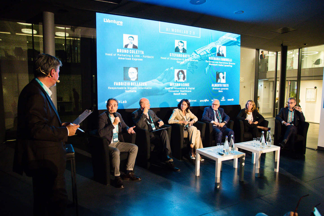 Evento di lancio AI WorkLab 2.0 - Partner panel