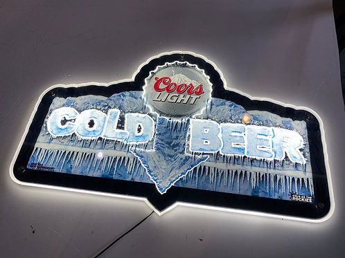 Coors light beer sign