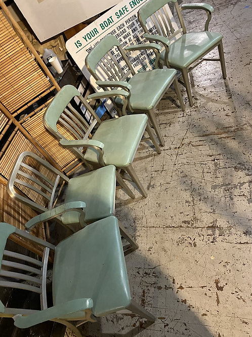 (5) Light teal WorkShop chairs