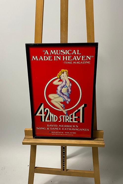 42nd street musical poster
