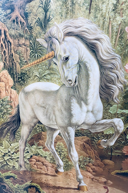 Unicorn in a majestic forest