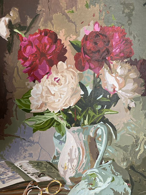 Still life - flowers (paint by number)