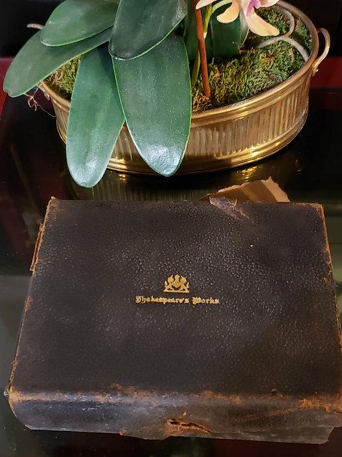 1910 Complete 24 piece set miniature leather William Shakespeare book set