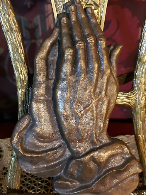 Metal praying hands made in Germany
