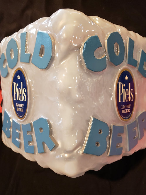 1960 Piels Beer Ice Cube Sign