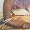Thumbnail: Marilyn Pedder print of original pencil art ( Xhosa lady) signed